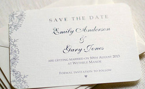 Toronto wedding invitations printing sherwooddnp save the date cards are the ideal way to notify all your guests about your upcoming nuptials long before they receive a formal invitation stopboris Choice Image